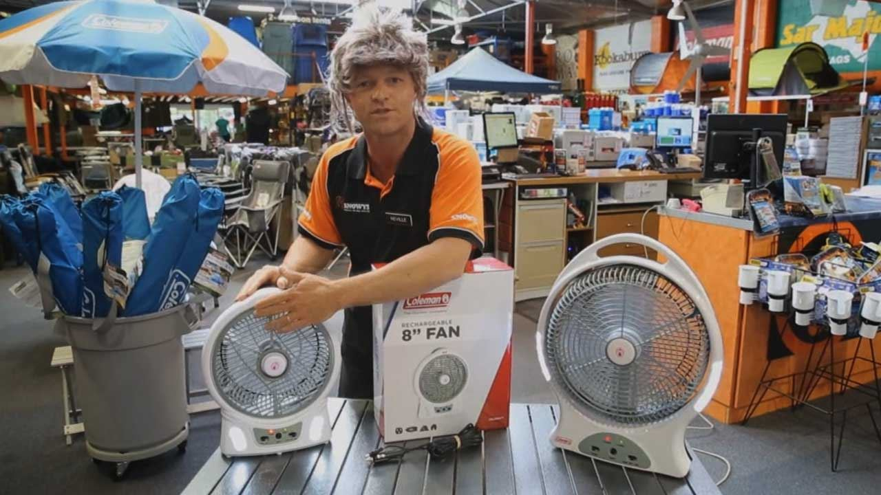 "Rechargeable Fan with LED 8"" - Video"