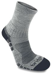 Picture of Bridgedale Wool Fusion Trail Light Sock Silver/Navy