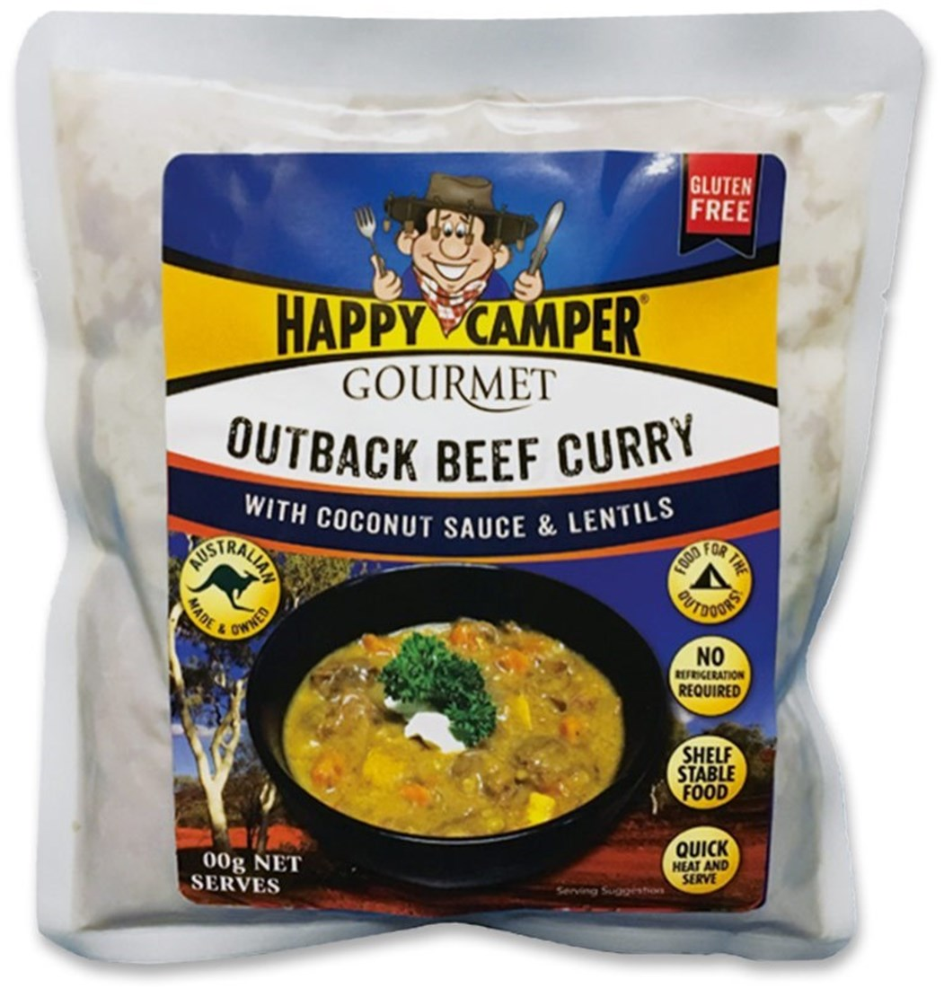 Happy Camper Outback Beef Curry with Coconut Sauce & Lentils