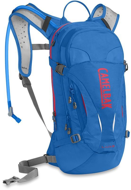 Camelbak LUXE Hydration Mountain Bike pack Carve Blue Fiery Coral