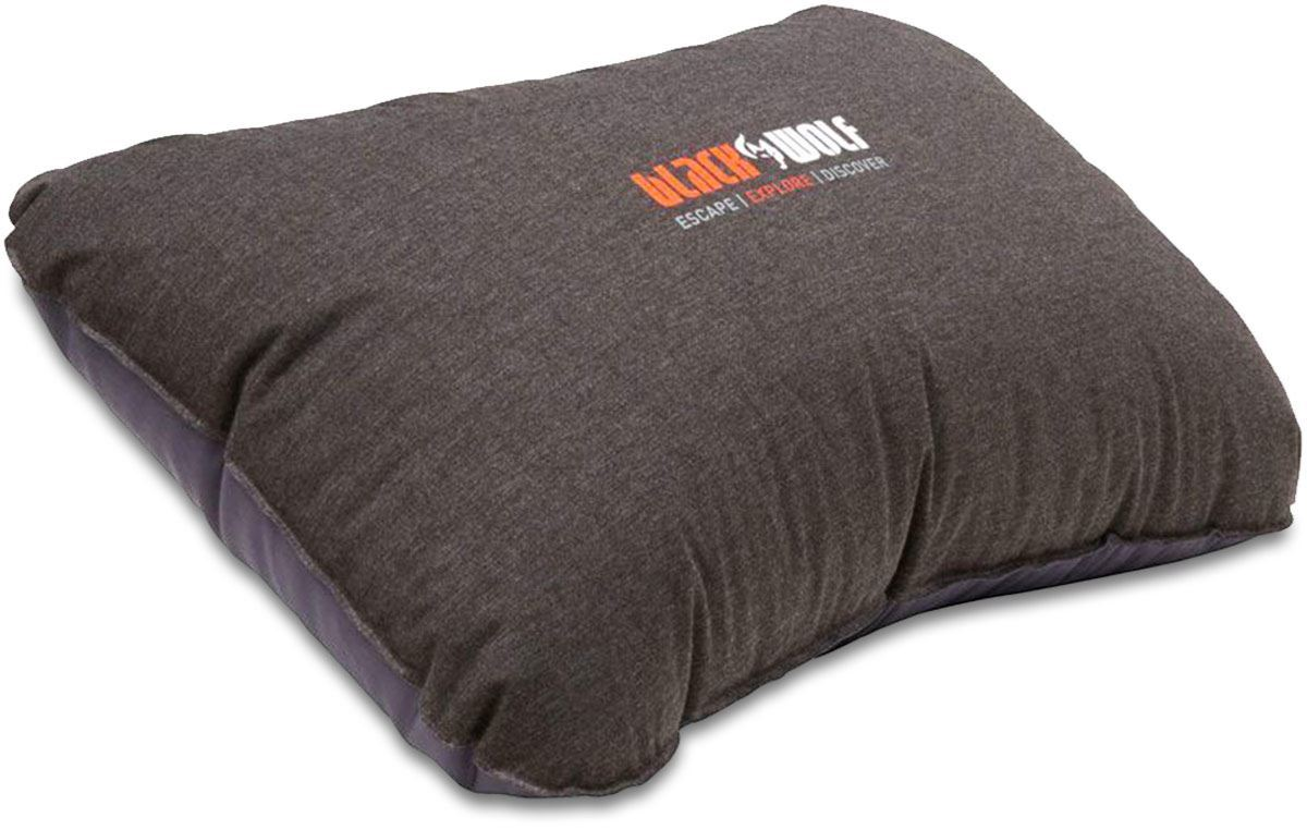 Black Wolf Self Inflating Pillow Deluxe Black Marle