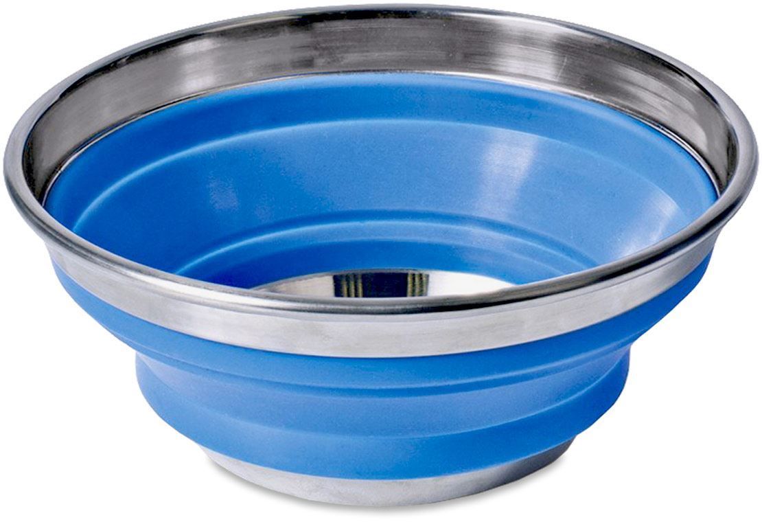 Companion Pop Up Silicone Camp Bowl 22cm Collpased